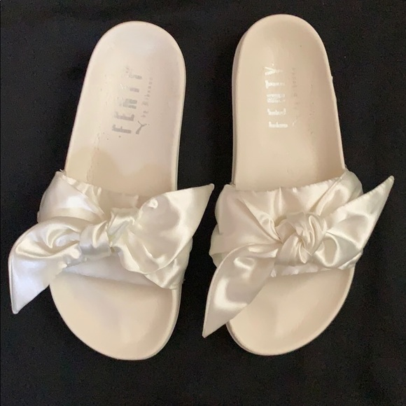 best sneakers 55e5a 6d11d Rihanna FENTY | Satin Slides